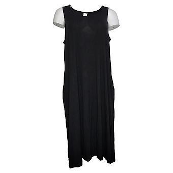 Wynne Layers Dress Jersey Knit Tank With Pockets Black 741379