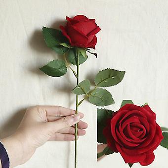 5Pcs الزهور الاصطناعية ارتفع الحرير باقة فرع طويل لحفل زفاف المنزل الديكور النباتات وهمية DIY اكليل اللوازم الملحقات