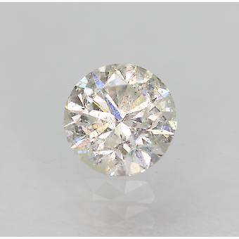 Certificeret 0,40 Karat D Color SI3 Runde Brilliant Natural Loose Diamond 4.67mm