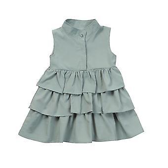 Summer Cute Ball Gown Sleeveless O Neck Dress For Kid