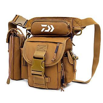 Multifunctional fishing tackle bags single shoulder crossbody bag waist pack fish lures gear utility storage fishing bag