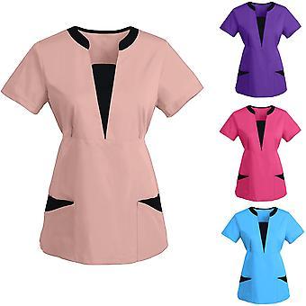 Women Workwear Clothes Spa Scrub Shirt Pet Grooming Institution Spa Uniform