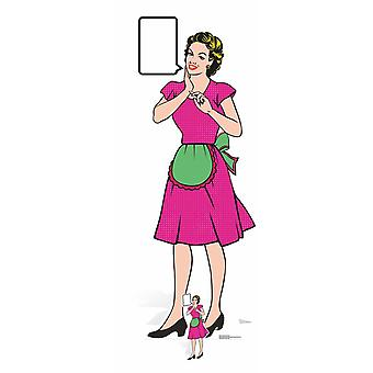 1950's Style Housewife Pop Art Cardboard Cutout / Standee  / Standee / Stand Up