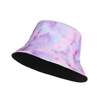 Embroidery Letters Double Side Cotton Reversible Sun Protection Cap