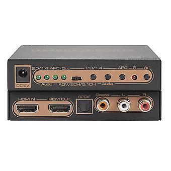 Nastavení 4k/60hz Hdmi 2.0 Audio Extractor Hdcp 2.2 6gbps Arc Edid