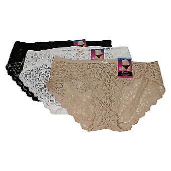 Maidenform Höschen 3er-Pack Spitze Bikini Weiß 690178