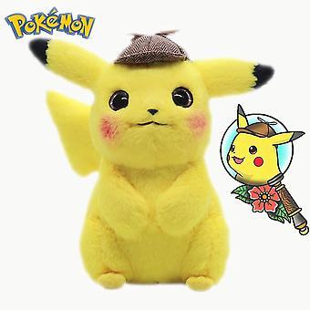 28cm Detective Pikachu Plys Legetøj Dukke Spiller Game Cute Pokemon Movie Anime Udstoppet Cartoon Kawaii Pokmon Animal Dolls Kid Legetøj