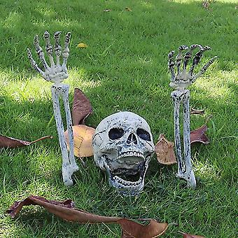 Hywell Realistic Skeleton Stakes Halloween Decorations For Garden Lawn Stakes Haunted House