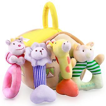4pcs Peluche Bébé Rattle Toy, Poignée sensorielle main-secouant PelucheMent