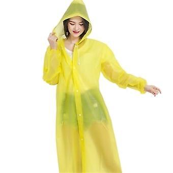 Портативные дождевые пальто для мужчин и женщин полной длины рукава и капюшон