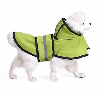 Pet Raincoat Dog Raincoat Large Dog Golden Retriever Large Dog Pet Raincoat Reflective Dog Clothes Raincoat Poncho (fluorescent Green Xl)