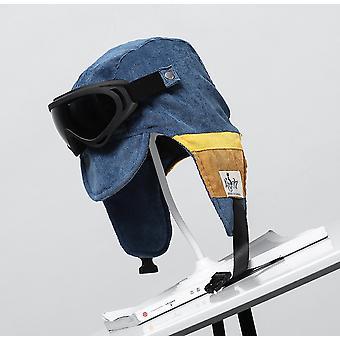 כובע טייס רטרו שמשה הקדמית הגנה על האוזן סקי בתוספת הגנה מפני האוזן הקטיפה
