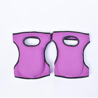 Garden Labor Protection Knee Pads, Thickened Moisture-proof Knee Pads (purple)