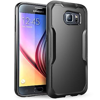 SUPCASE Samsung Galaxy S6 Case - Unicorn Beetle Case - Black/Black