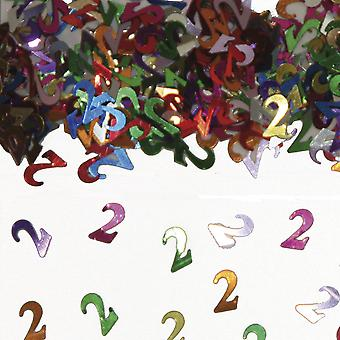 Tabela numer 2 konfetti Deco konfetti urodzinowe