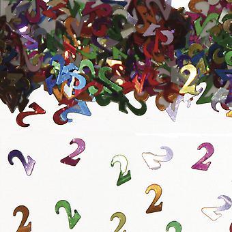 Tischkonfetti Zahl 2 Deko Konfetti Geburtstag Party
