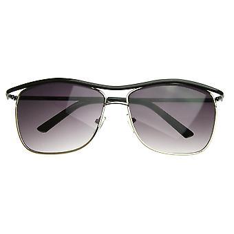 Moderne tynn kvadrat Wire Frame Aviator solbriller