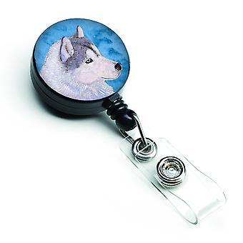 Husky Sibérien Badge rétractable Reel ou porte-ID avec Clip SS4740