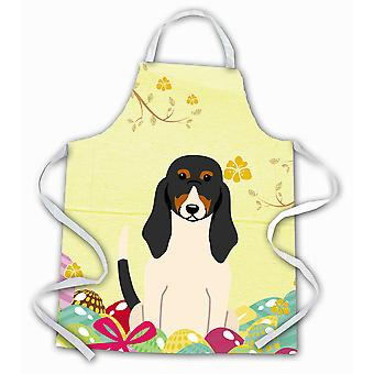 Carolines Treasures  BB6044APRON Easter Eggs Swiss Hound Apron