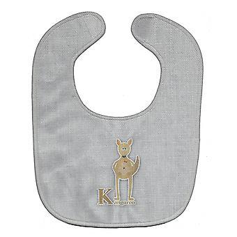 Каролинских сокровища BB5736BIB алфавит K для кенгуру ребенок нагрудник