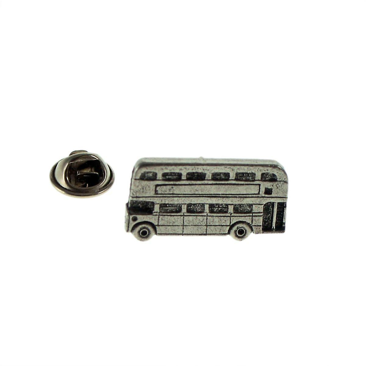 Routemaster Double Decker Bus Pewter Lapel Pin Badge