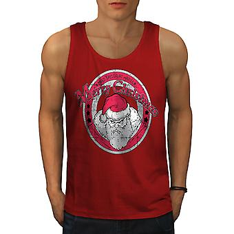 Angry Santa Christmas Men RedTank Top | Wellcoda
