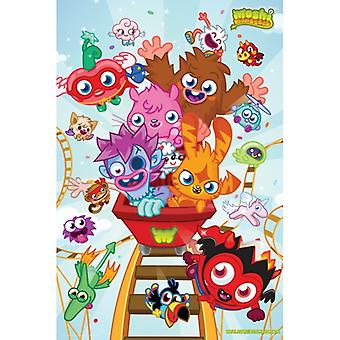 Moshi Monsters - Roller Coaster plakat Poster Print