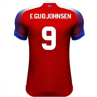 2018-2019 Iceland Third Errea Football Shirt (E Gudjohnsen 9)