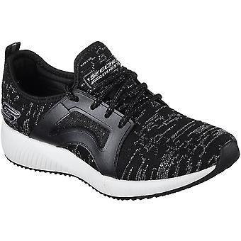 Skechers Womens/Ladies Bobs Sport Squad Glossy Finish Trainers Shoes
