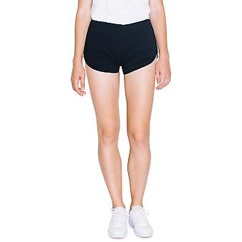 American Apparel das mulheres/senhoras do bloqueio 100% algodão, Shorts em execução
