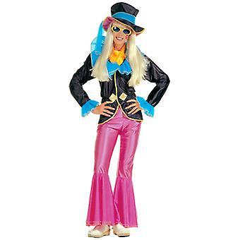 HIPPIE GIRL COSTUME (JACKET PANTS HAT SCARF)