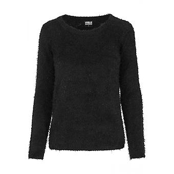 Urban classics ladies sweater nylon feather crew