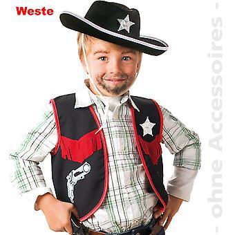 Cowboy kostume Sheriff vest Sheriff stjerne Western børn vest Sheriff barn kostume