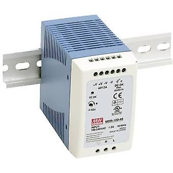 Mean Well MDR-100-24 Ray monteli PSU (DIN) 24 V DC 4 A 96 W 1 x