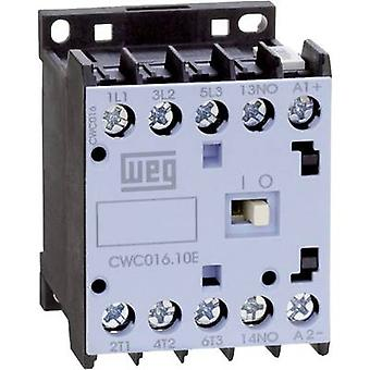 WEG CWC07-01-30C03 Contactor 1 pc(s) 3 makers 3 kW 24 V DC 7 A + auxiliary contact