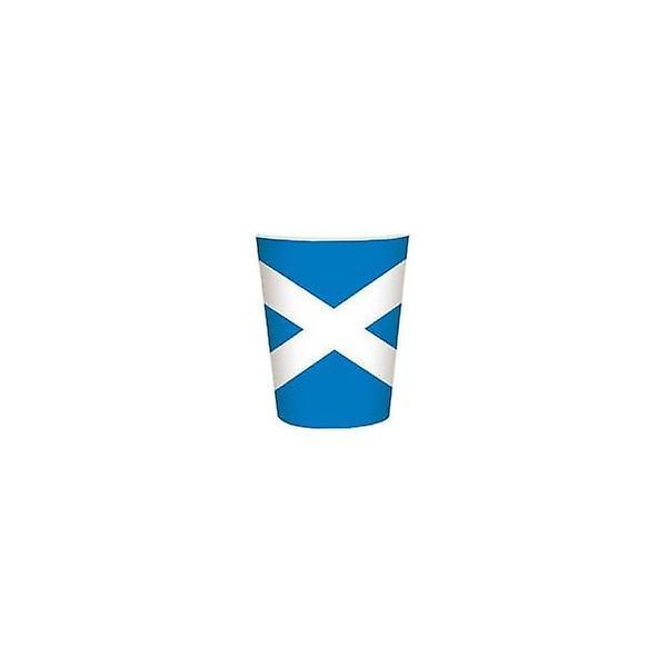 Union Jack Wear Scotland Flag Party Cups 8 Pack