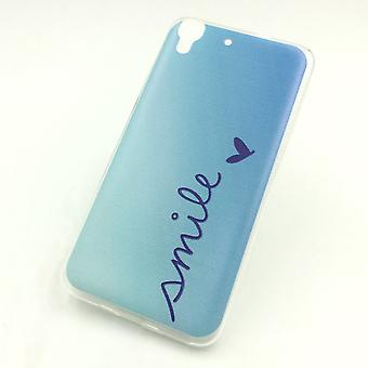 Eloisa hylsy Huawei g pelata mini Smile Blau laukku kattaa + 1 x säiliö lasi