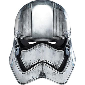 Captain Phasma Star Wars mask made of cardboard for adults