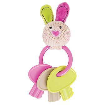 Bigjigs Toys Soft Plush Bella Key Rattle Teether Newborn Sensory Baby Toy