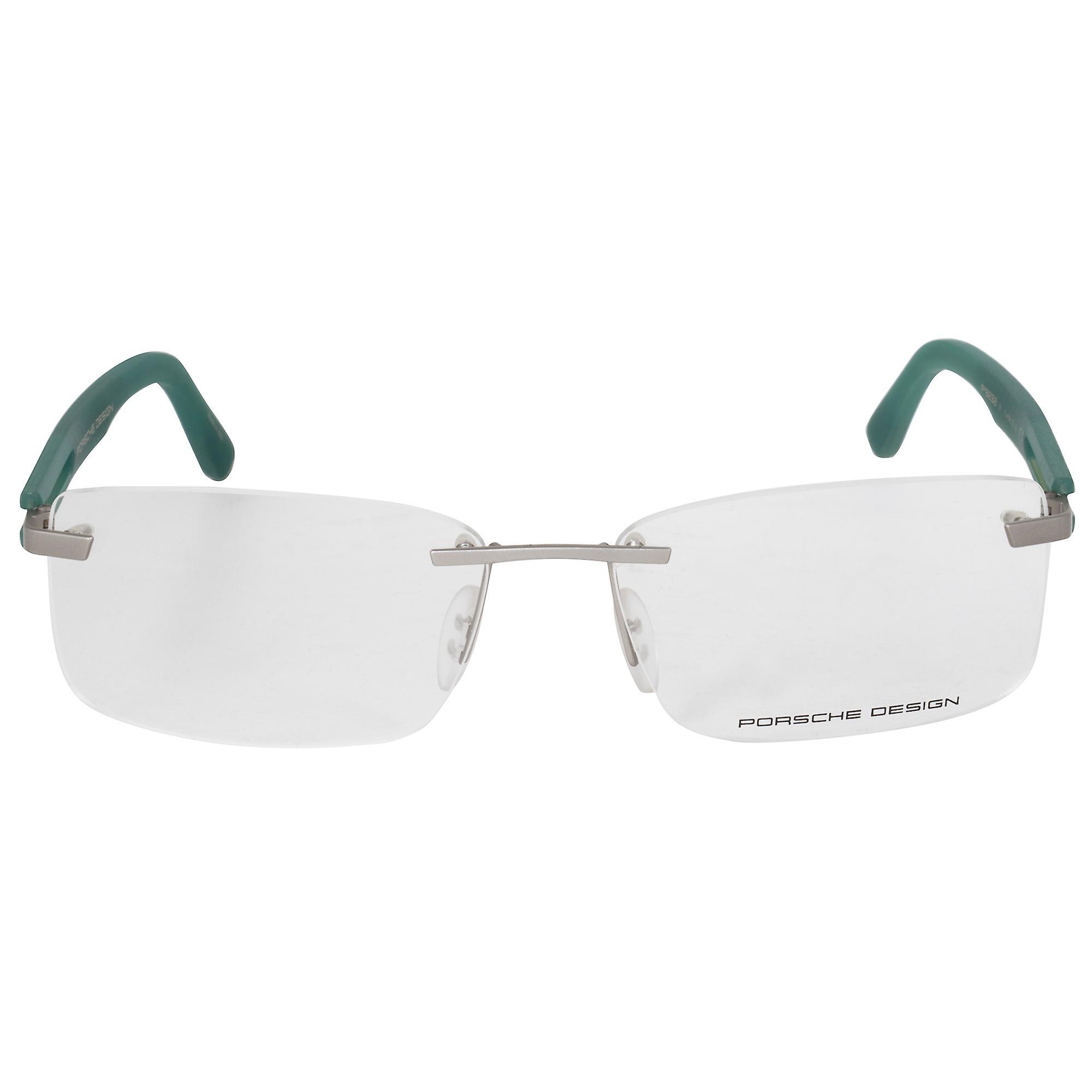 Porsche Design P8232 E Rectangular | Matte Silver Green| Eyeglass Frames