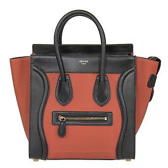 Celine Micro Luggage Leather Bag | Tri-Color Black w/ Gold Hardware