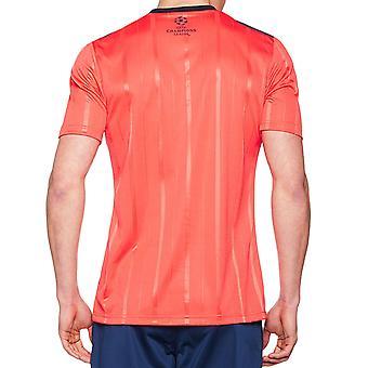 Adidas Performance Mens Climacool kort ärm UCL fotbollsdomare Jersey - röd
