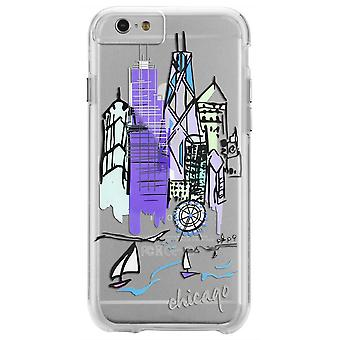 Case-Mate City Prints Chicago iPhone 6 Plus/6s Plus Case - Purple/Clear
