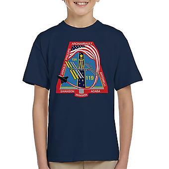 Camiseta de la NASA STS 119 lanzadera de espacio descubrimiento misión parche infantil