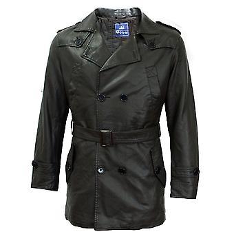 Giorgio Mens Trench Coat Mac Top Jacket Press Stud Fastening Epaulette