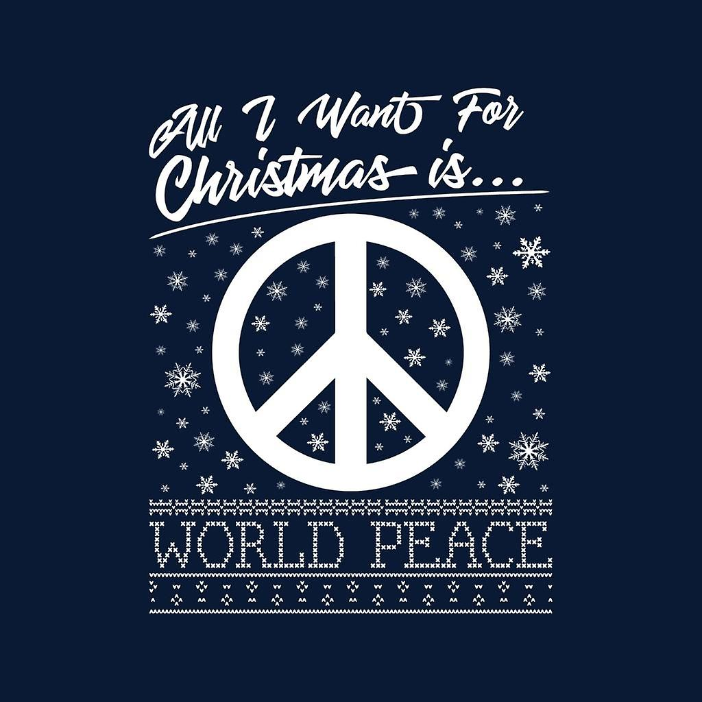 Todo lo que quiero para Navidad es mundial paz Varsity chaqueta de