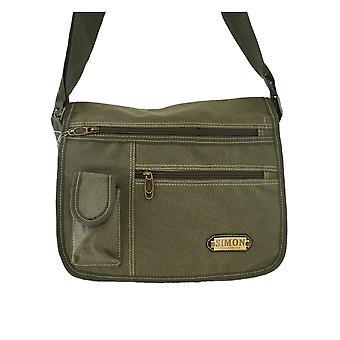 Stilfuld lærred taske-multi-Color