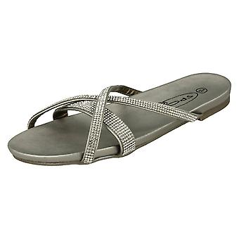 Miejscu panie na płaskie sandały Diamante