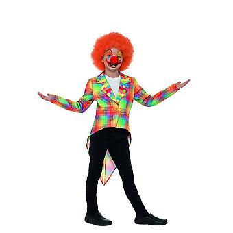 Neon Tartan pelle Circus hännystakki, pojat naamiaispuvut, normaali ikä 7-9