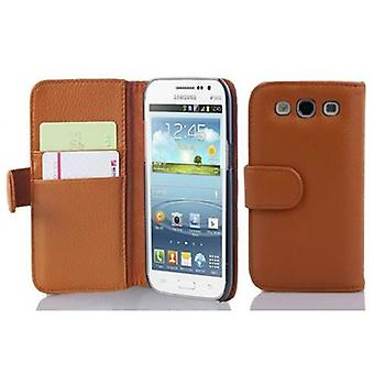 Cadorabo Case for Samsung Galaxy WIN Case Cover - Case Case Case in Textured Faux Leather with Stand Function and Card Case Compartment - Case Cover Case Case Case Case Book Folding Style